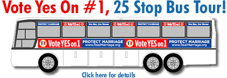 Vote Yes On #1, 25 Stop Bus Tour!
