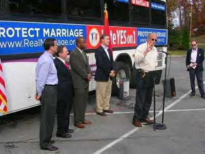 In Kingsport, sponsor of the original marriage law, former Sen. Jim Holcomb is flanked by Sen. Fowler, Rep. David Davis, Rep. Nathan Vaughn and Sen. Jim Bryson.